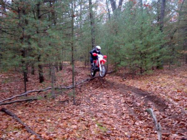 Me riding the Michigan Trails